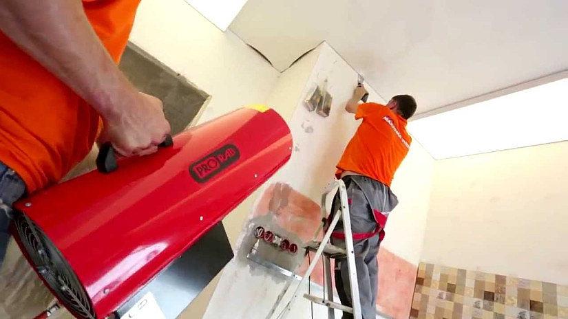 оборудование для монтажа натяжного потолка