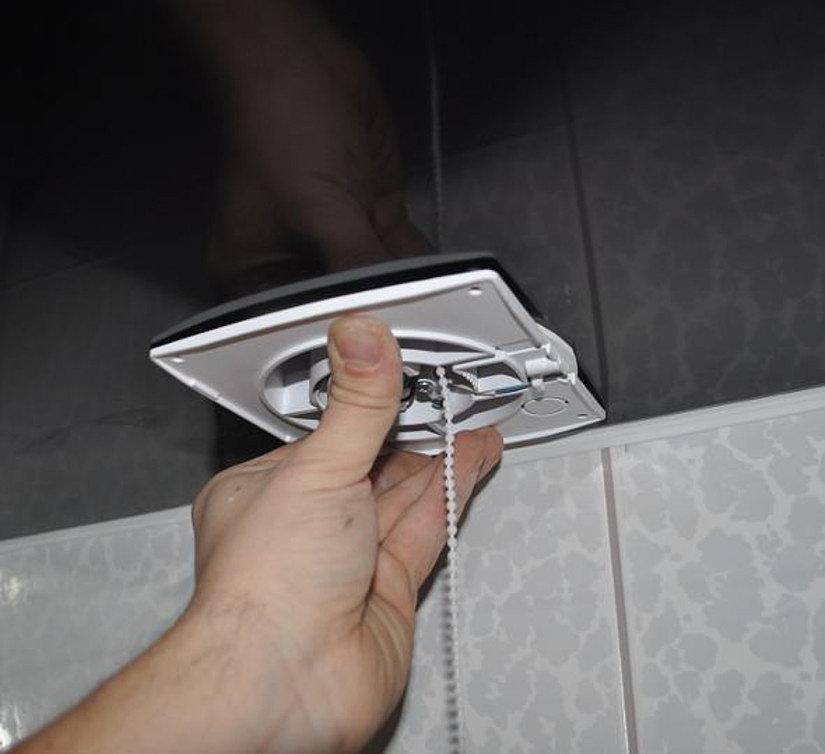 монтаж дифузора в ванной