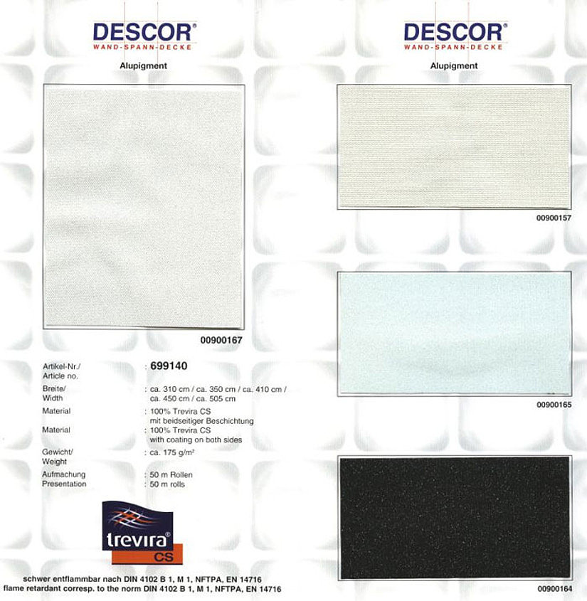 Каталог тканевых потолков Descor