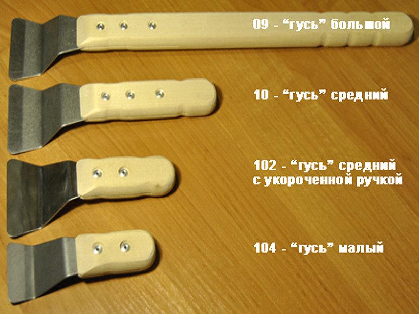 """разновидности шпателей """"гусь"""""""