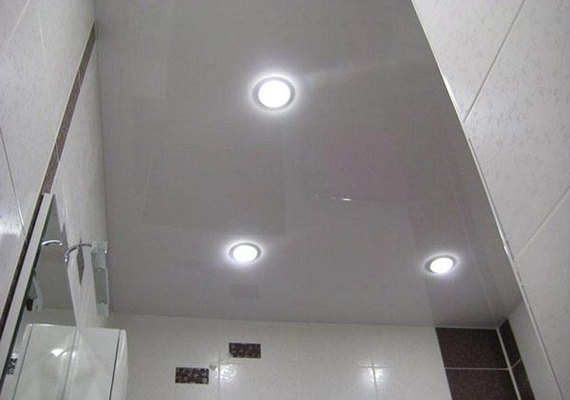 светодиодные светильники на натяжном потолке