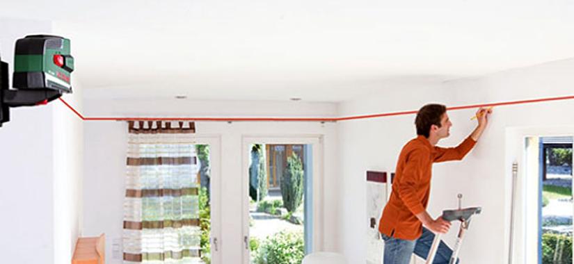 лазерный уровень для монтажа натяжного потолка