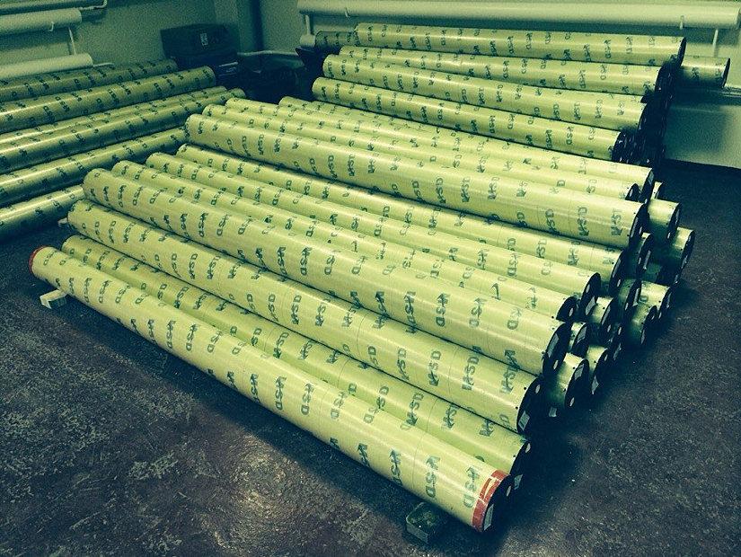 Рулоны с пленкой MSD на производстве