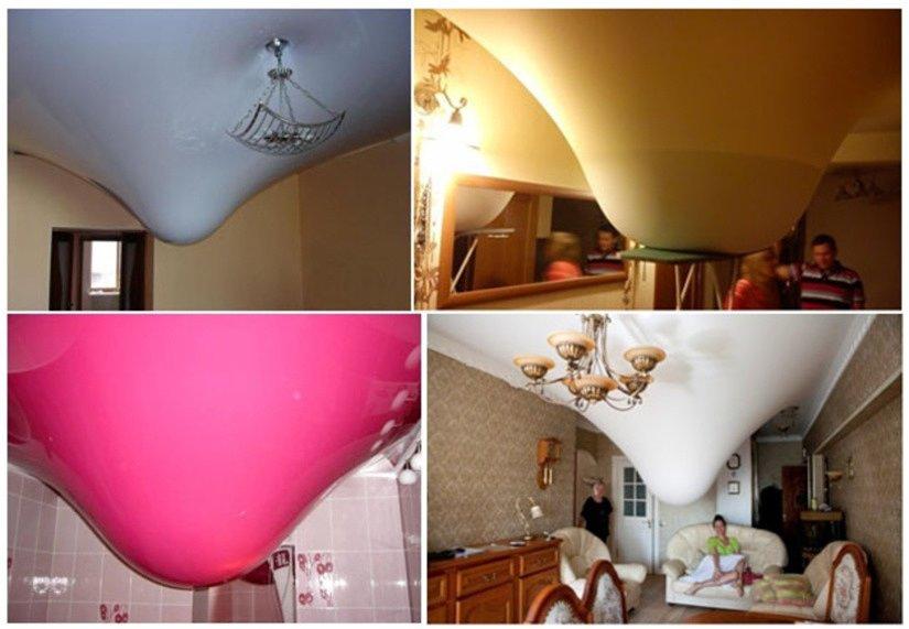 Натяжной потолок защитит от протечки сверху