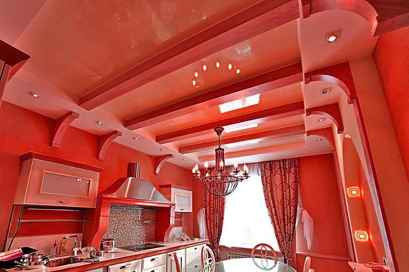 красивый натяжной потолок