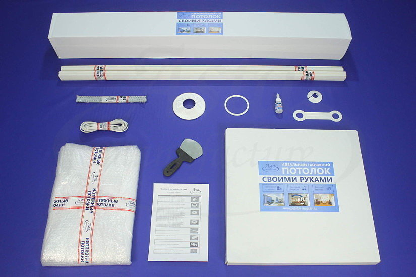 Готовый комплект тканевых потолков от компании Аста М