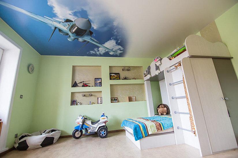 зд потолок в детской