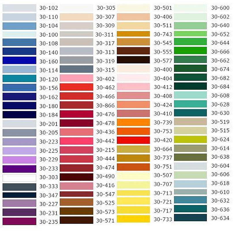 широкий ассортимент цветов натяжного потолка