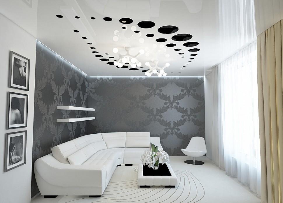 Резной потолок придает помещению легкости и воздушности