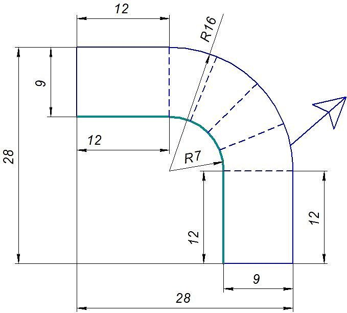 Схема внутреннего угла ПК-5