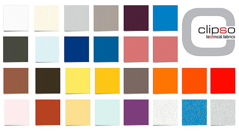 Цветовая палитра тканевых потолков Клипсо