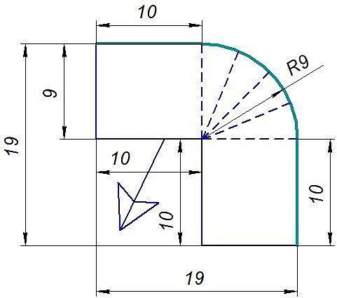 Схема внешнего угла ПК-5