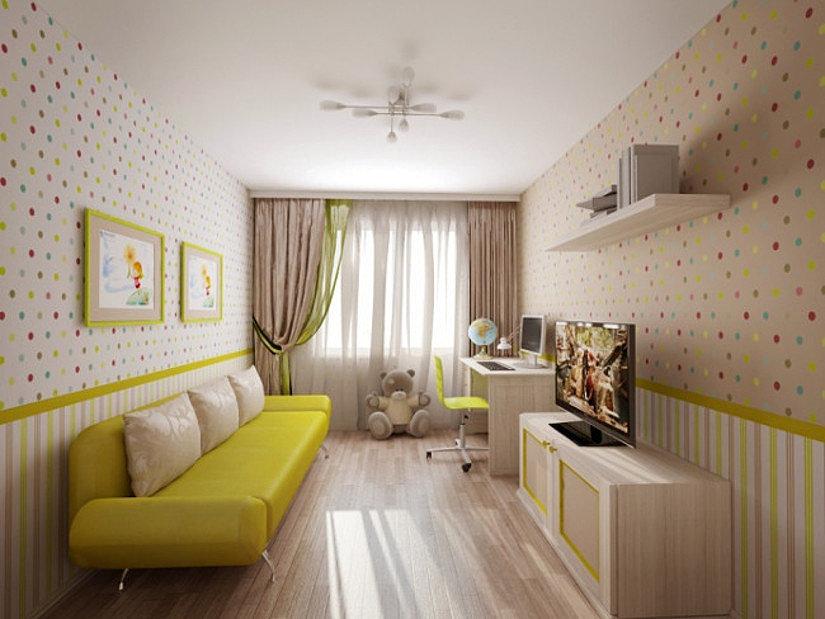 тканевый потолок в детской