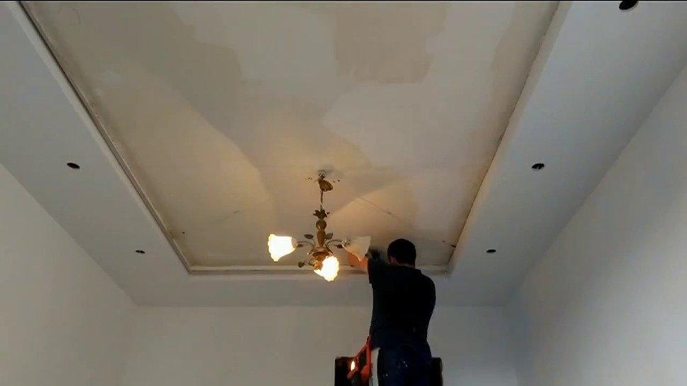 Процесс изготовления парящего натяжного потолка
