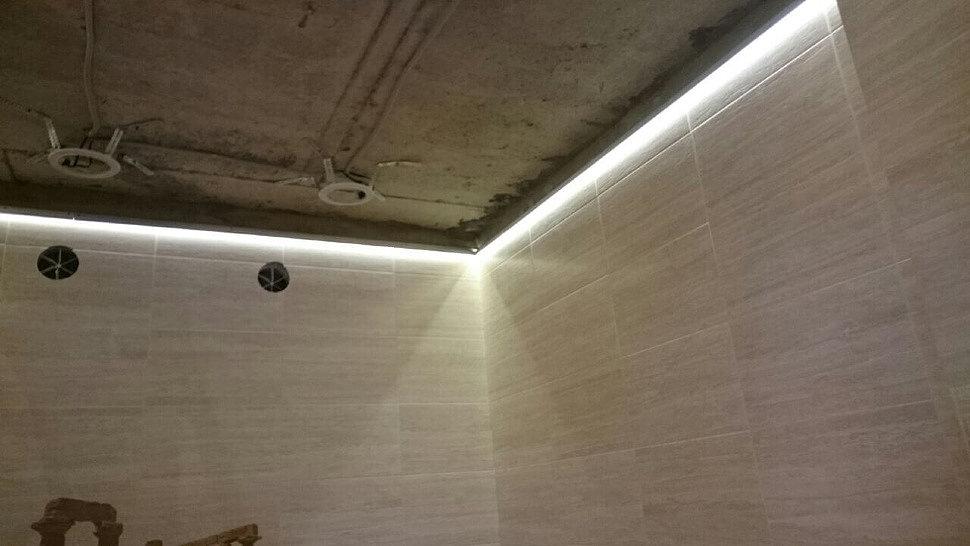 Процесс создания парящего натяжного потолка