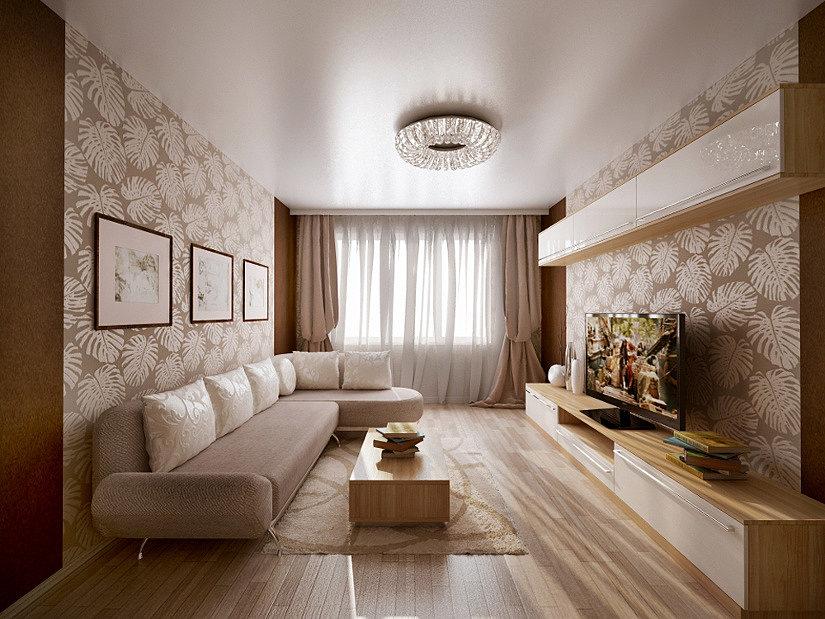 Перламутровый натяжной потолок в квартире
