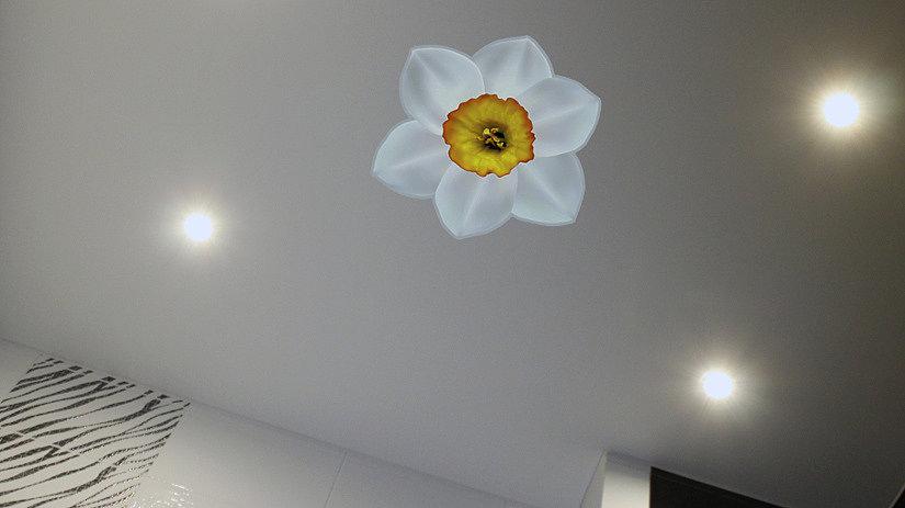 """Наклейка """"Орхидея"""" на натяжном потолке"""