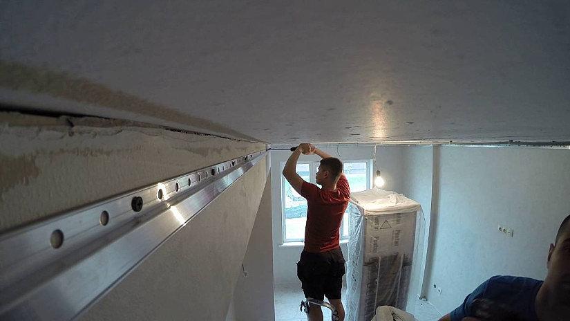 багет для натяжных потолков