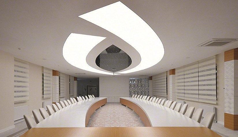 полупрозрачный ПВХ потолок