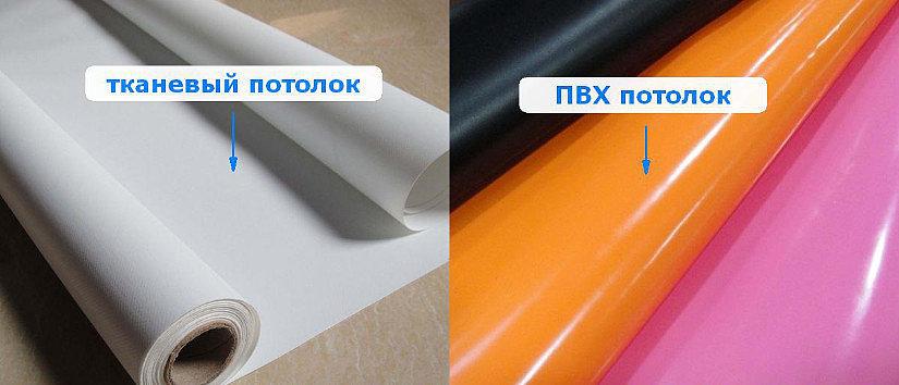 тканевый или ПВХ-потолок