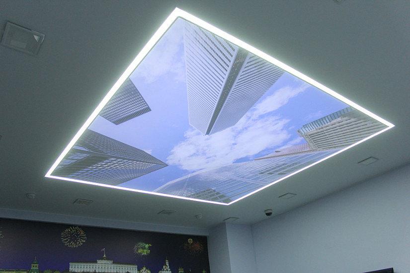Натяжные потолки с технологией Double Vision