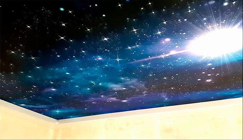 фотопечать неба на потолке
