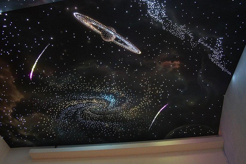 звездное небо с использованием оптоволоконных технологий