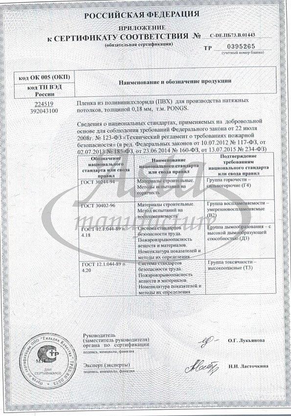 Сертифицированные виниловые пленки
