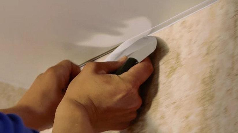 шпатель для тканевых натяжных потолков