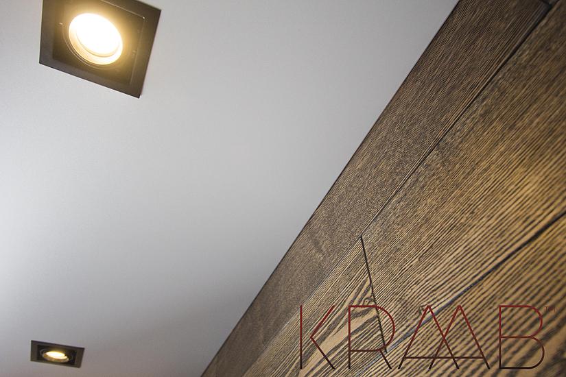 Натяжной потолок установленный в профиль Kraab 3.0