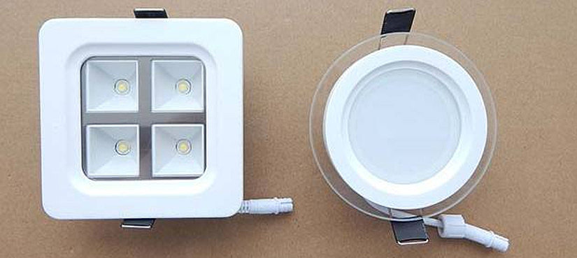Светодиодные светильники квадратной и круглой формы