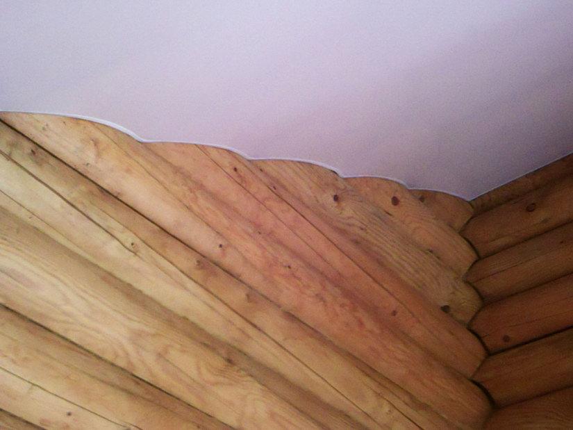 Тканевый натяжной потолок в частном доме