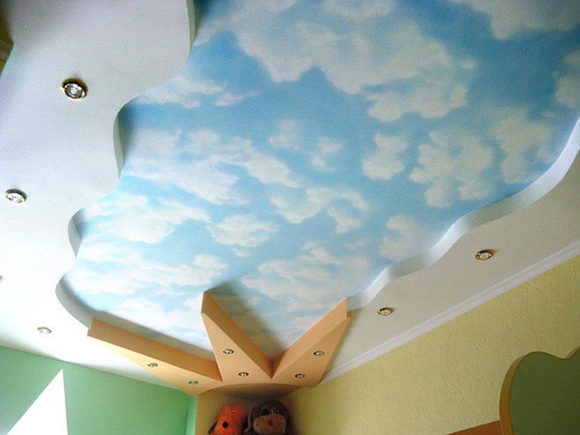 фотопечать облаков в детской