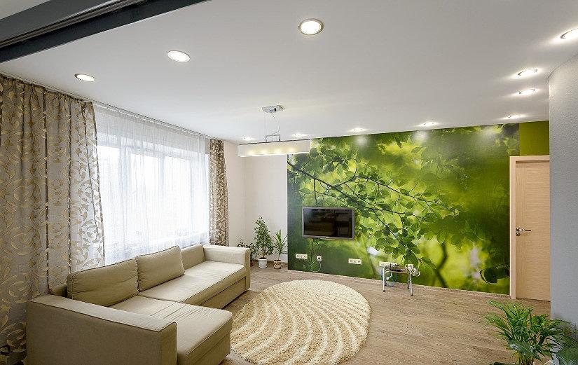 тканевый экологичный потолок