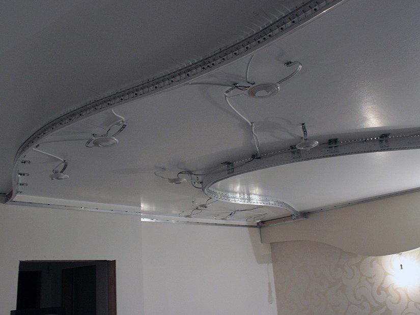 конструкции для натяжных потолков