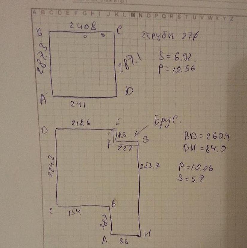 Пример замера помещения под натяжной потолок