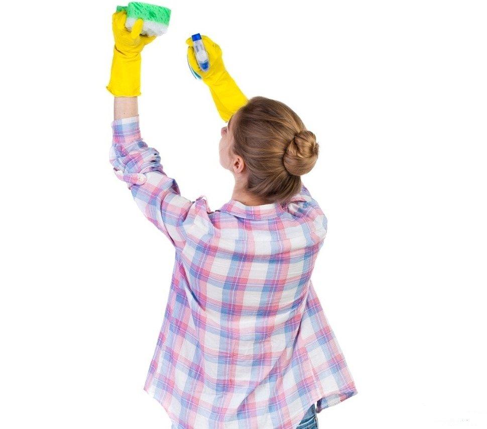 Очистка тканевого натяжного потолка