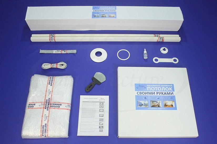 Готовый комплект тканевого натяжного потолка от компании Аста М