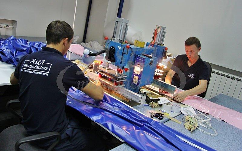Процесс приваривания гарпуна к ПВХ плеке