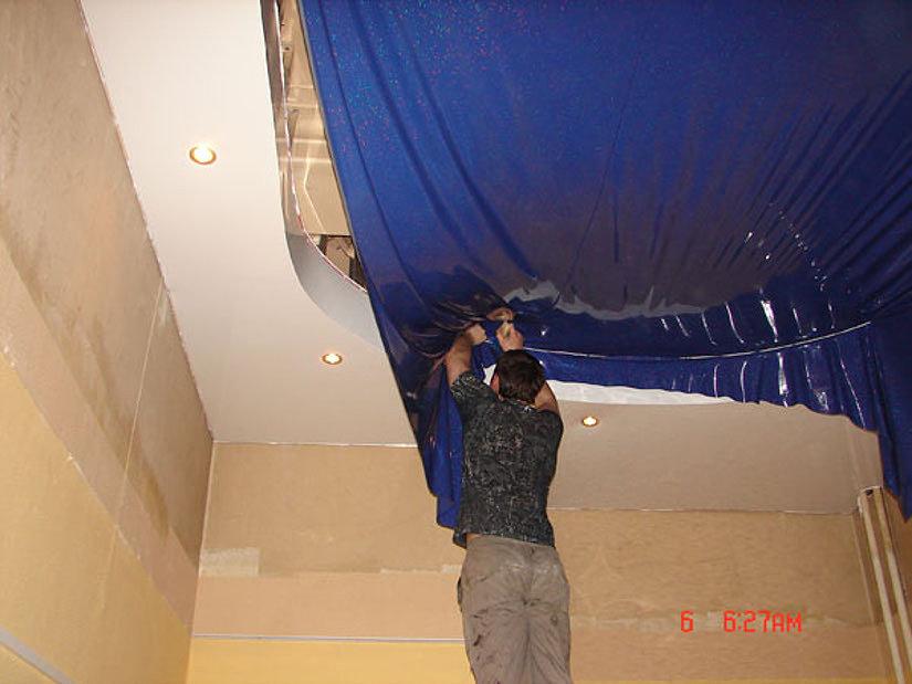 штапиковая система монтажа потолков
