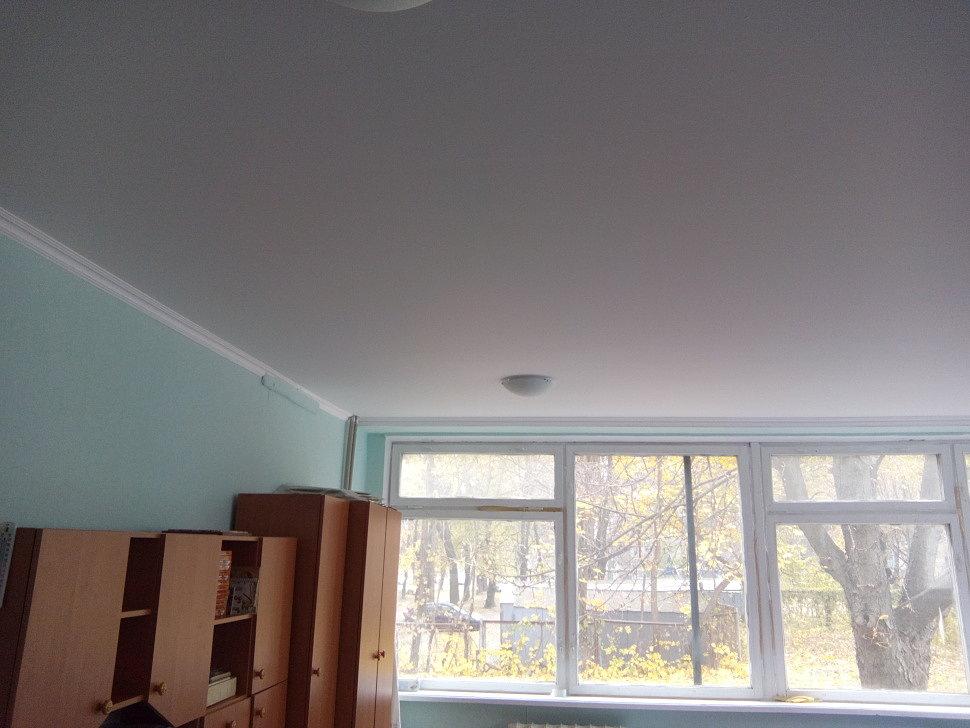 Тканевый натяжной потолок в детском саду