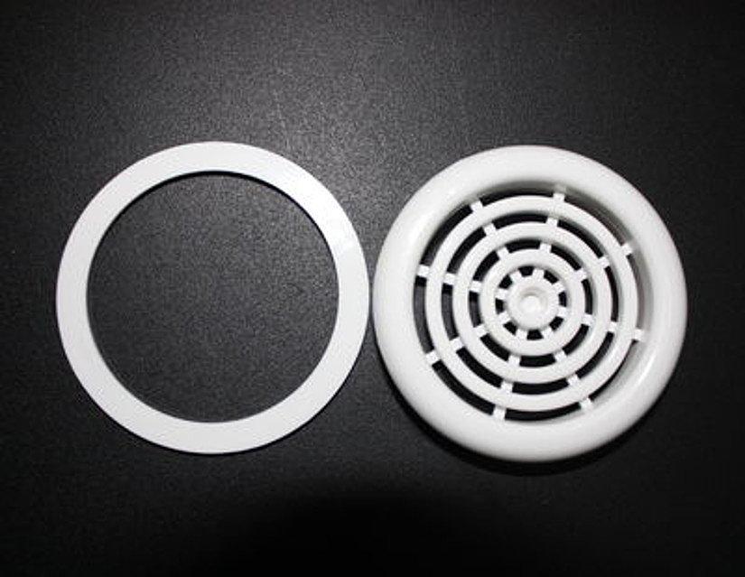 вентиляционная решетка и протекторное кольцо