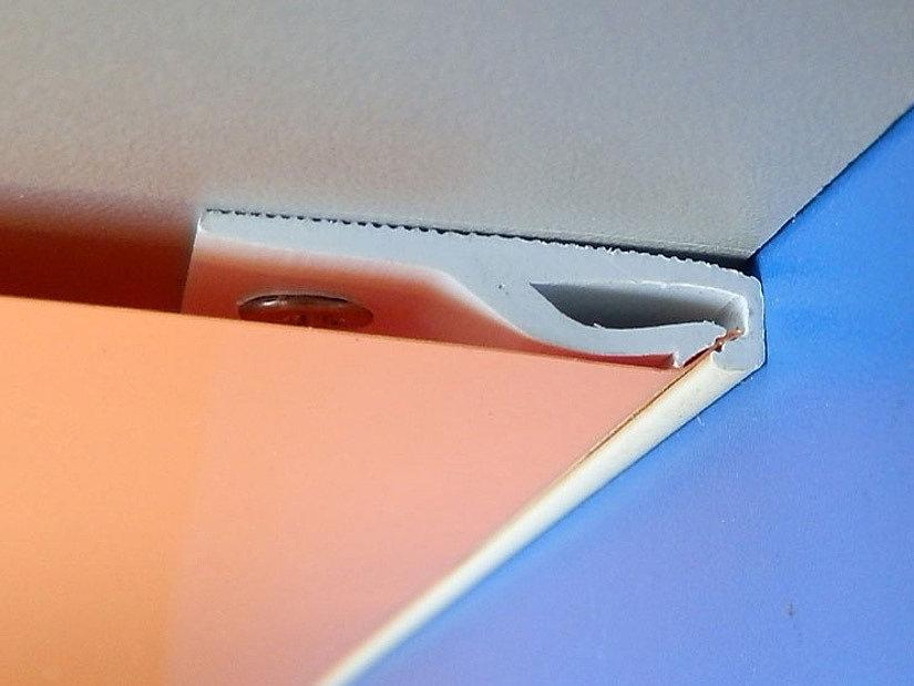 ПВХ-багет потолочный «прищепка» для тканевых потолков