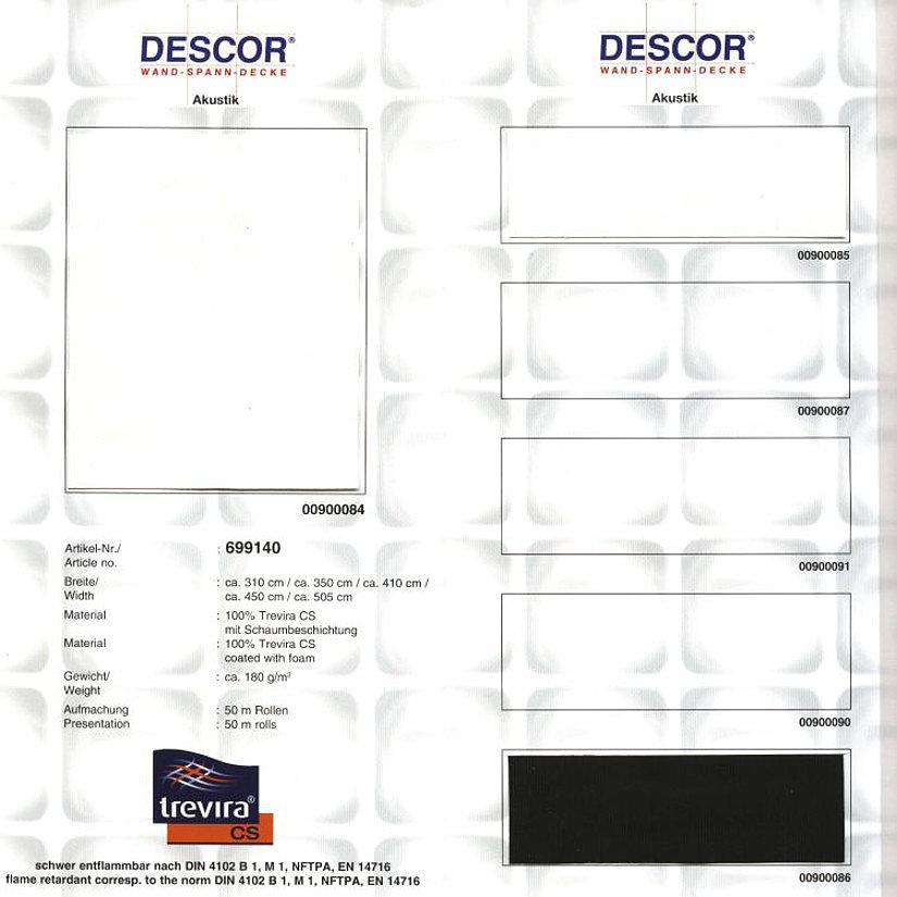 Цветовая палитра Descor Acoustic