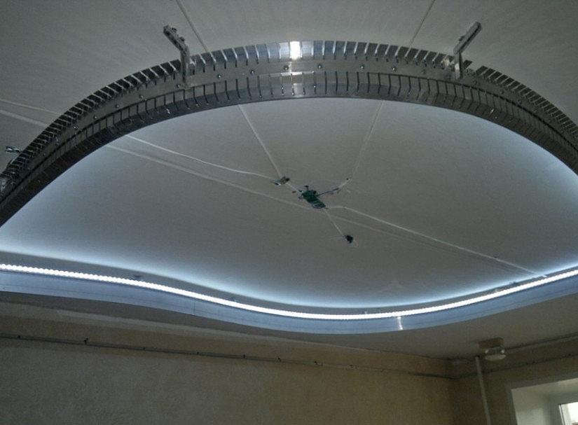Потолочное крепление профиля для натяжных потолков