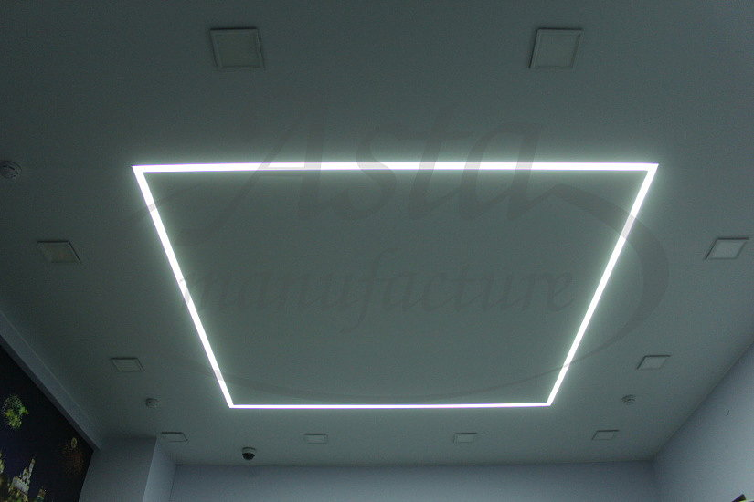 Натяжной потолок с профилем КП 4075