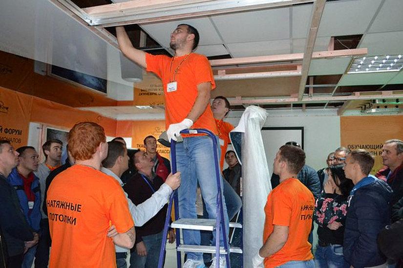обучение монтажу натяжных потолков