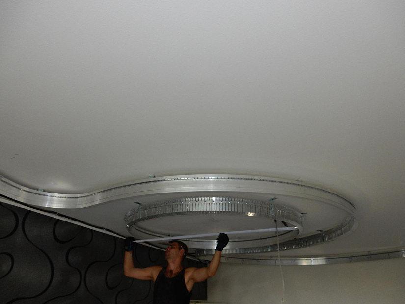 замер натяжного потолка
