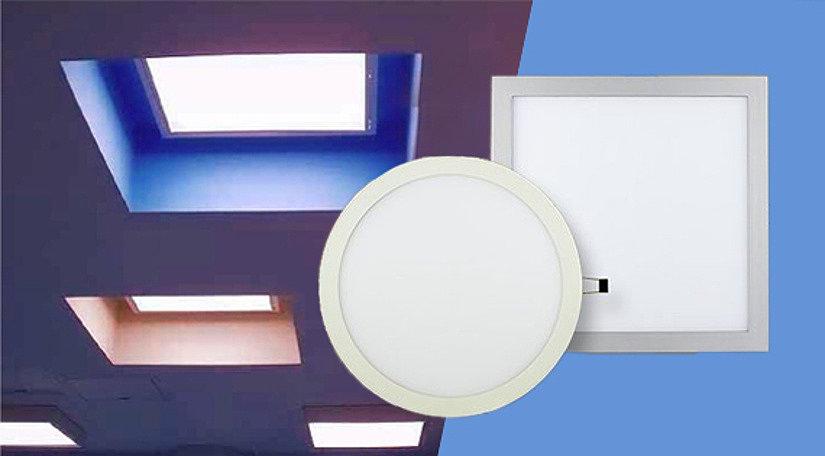 белые лампы для натяжного потолка