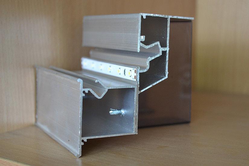 Профили КП-2 и НП-5 для установки световых натяжных потолков